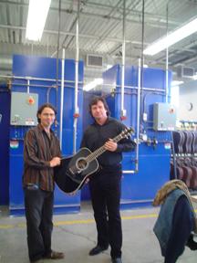 Martin CEO presenting Guitar